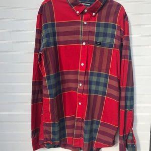 RVCA Cotton Plaid Button Down Shirt Regular Fit